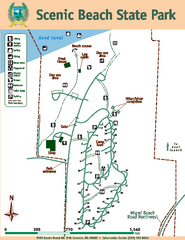 Scenic Beach State Park Map