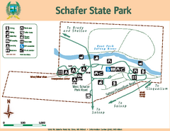 Schafer State Park Map
