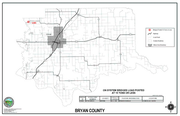 School Bus Route Map - Bryan County Oaklahoma • mappery