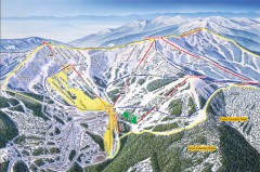 Schweitzer Ski Trail Map - Front