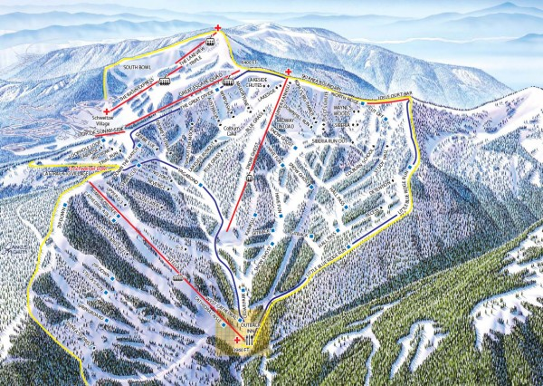 Schweitzer Ski Trail Map - Outback Bowl