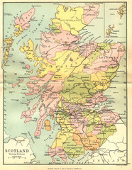 Scotland Counties Map
