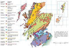 Scotland Geology Map