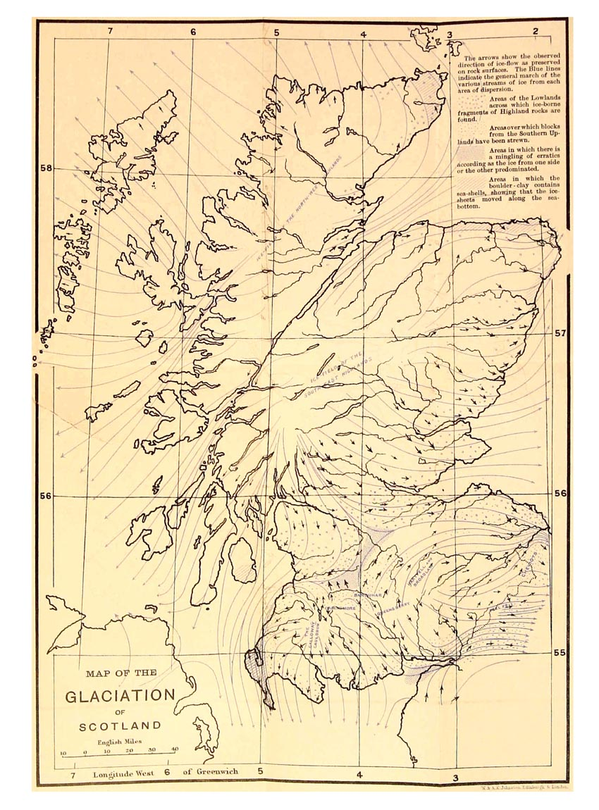 Scotland Glaciation Map - Scotland • mappery