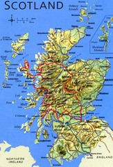 Scotland Tourist Map