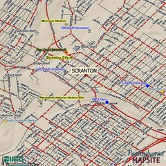 Scranton, Pennsylvania City Map