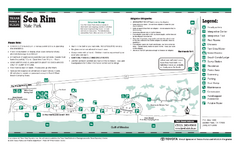 Sea Rim, Texas State Park Facility and Trail Map
