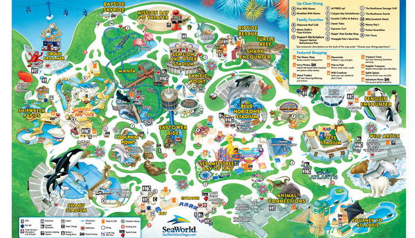 Seaworld San Diego Theme Park Map