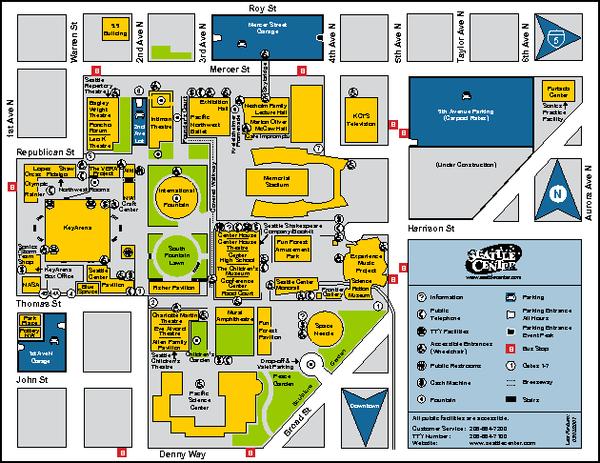 Seattle City Center Washington Map Seattle WA mappery
