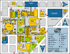 Seattle City Center, Washington Map