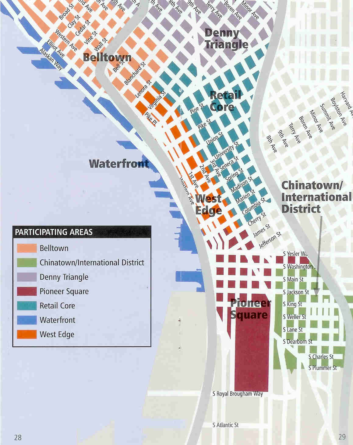 simon pointer Map of Seattle Seattle – Seattle Tourist Map