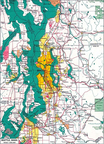 Seattle Region Map