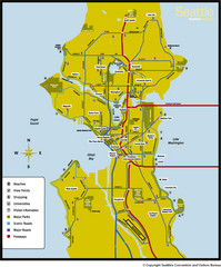 Seattle, Washington City Map