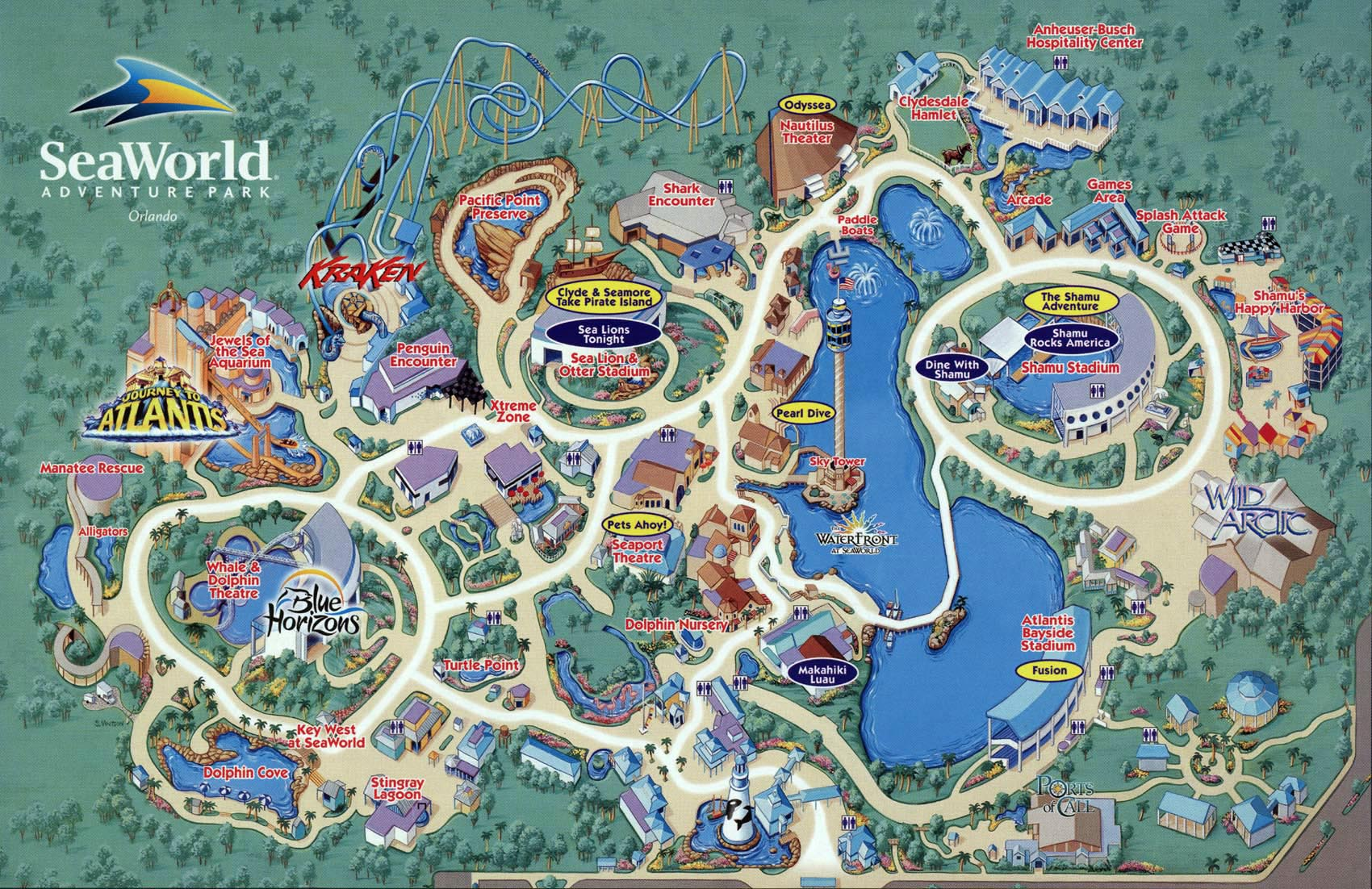 . seaworld map orlando   sea harbor dr orlando fl • mappery