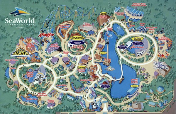 Seaworld Map Orlando 7007 Sea Harbor Dr Orlando FL mappery – Orlando Florida Tourist Attractions Map