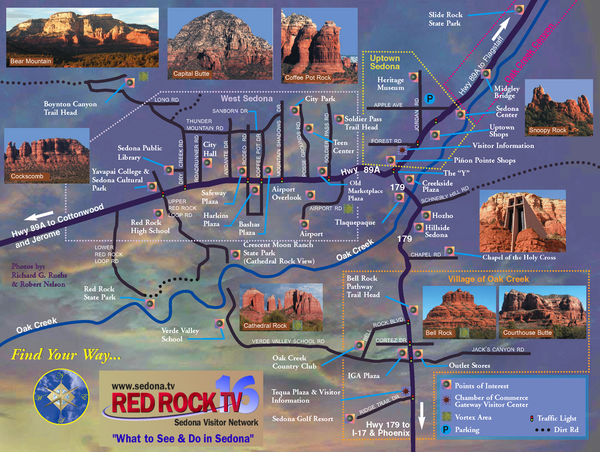 Sedona Tourist Map Sedona Arizona mappery – Arizona Tourist Attractions Map