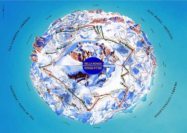 Sella Ronda Ski Tour Map