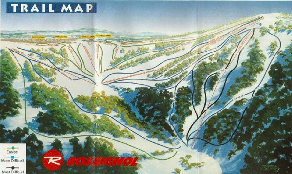 Selwyn Snowfields Ski Trail Map