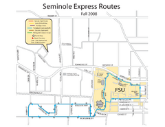 Seminole Express Bus Service Map