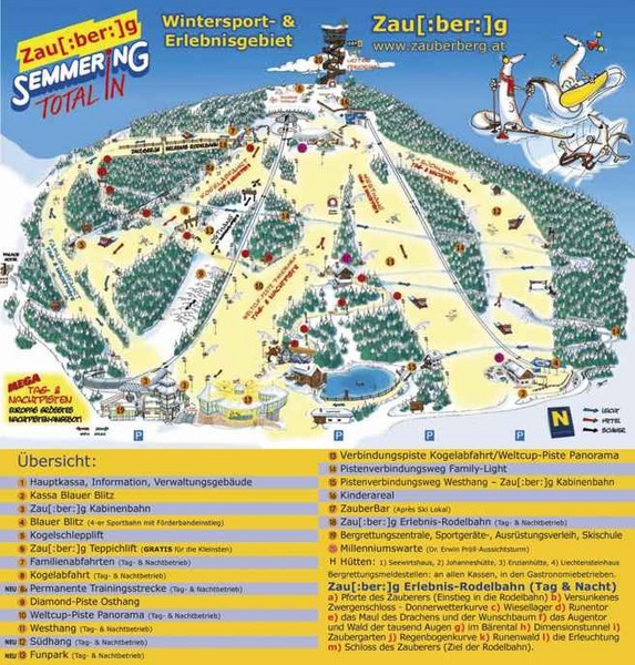 Semmering Ski Trail Map