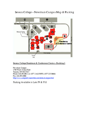 Seneca College - Newnham Campus Map