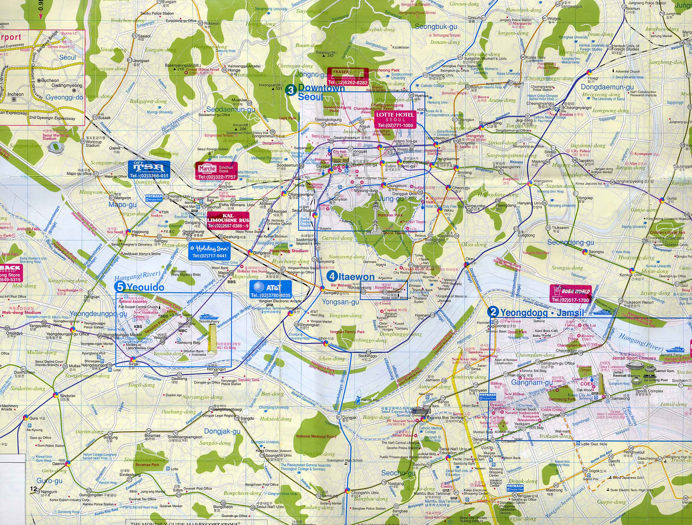 Seoul City Map - Seoul Korea • mappery Seoul Map