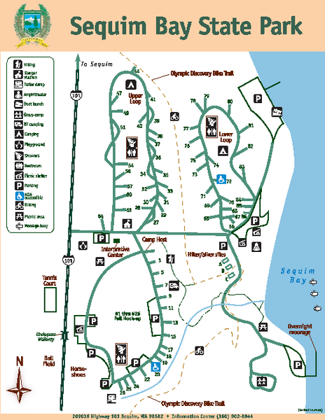Sequim Bay State Park Map