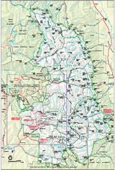 Sequoia National Park map and Kings Canyon...