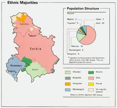 Serbia and Montenegro Ethnic Majorities Map