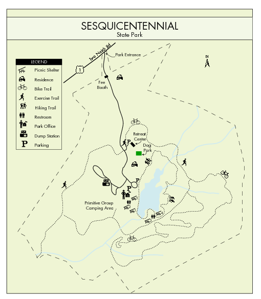 Sesquicentennial State Park Map