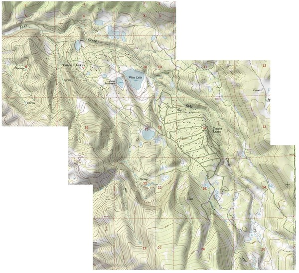 Shaded Relief Timber Lakes Estates Map