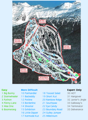 Shames Mountain Ski Trail Map