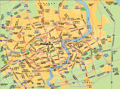 Shanghai City Streets Map