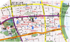 Shanghai People's Square to Bund Tourist Map