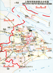 Shanghai Suburbs Tourist Map