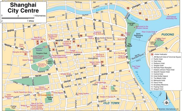 Shanghai China Main Road Map Shanghai China mappery – Shanghai Tourist Attractions Map