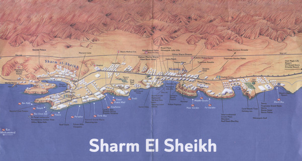 Sharm El Sheikh Coastal Map