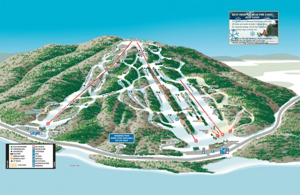 Shawnee Peak Ski Trail Map