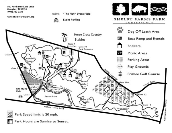 Shelby Farms Park Map - 500 North Pine Lake Drive Memphis ... on lewis county tn map, hills creek state park map, great smoky mountains national park map, tornado alley map, arlington map, ricketts glen state park map, collierville map, switchgrass farms in the usa map, tennessee map, lake perris map, black moshannon state park map, putnam park map,