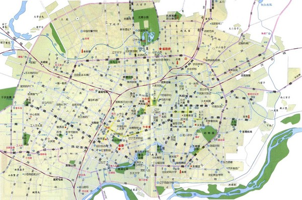 Shenyang Guide Map