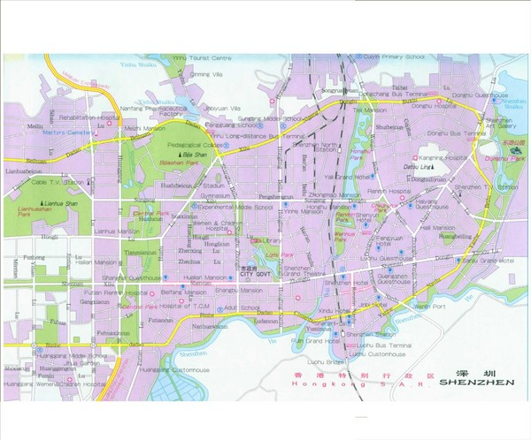 Shenzhen City Tourist Map