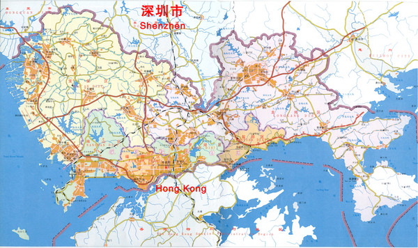 Shenzhen district map shenzhen china mappery fullsize shenzhen district map gumiabroncs Choice Image