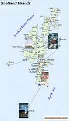 Shetland Islands Tourist Map