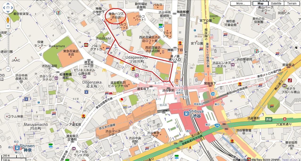 shibuya tourist map  shibuya • mappery -