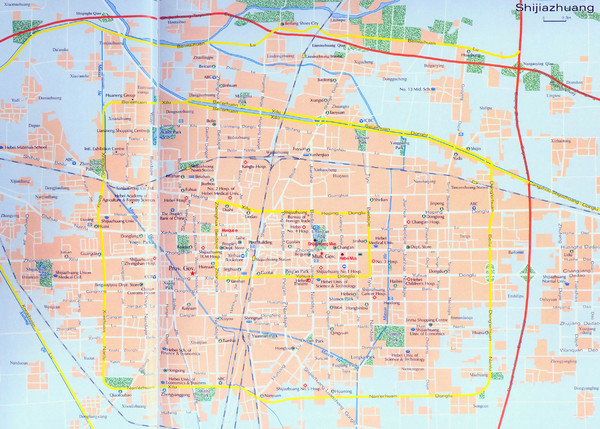 Shijiazhuang Tourist Map