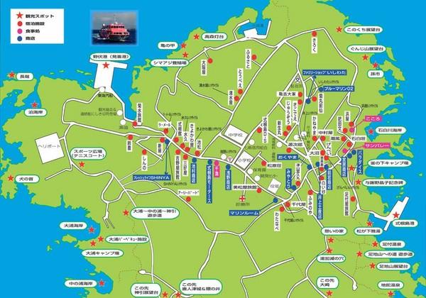Shikinejima Tourist Map Japan mappery