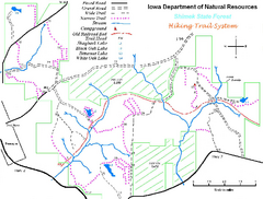 Shimek State Forest Hiking Trail Map