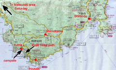 Shimoda Area Tourist Map