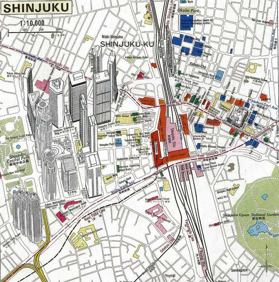 Shinjuku Tourist Map Shinjuku mappery