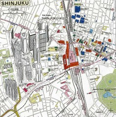 Shinjuku Tourist Map
